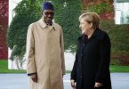 Nigeria's President Muhammadu Buhari and German Chancellor Angela Merkel